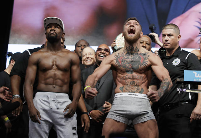 Conor McGregor will do everything humanly possible to defeat Floyd Mayweather Jr., but it's not likely to be enough. (AP)