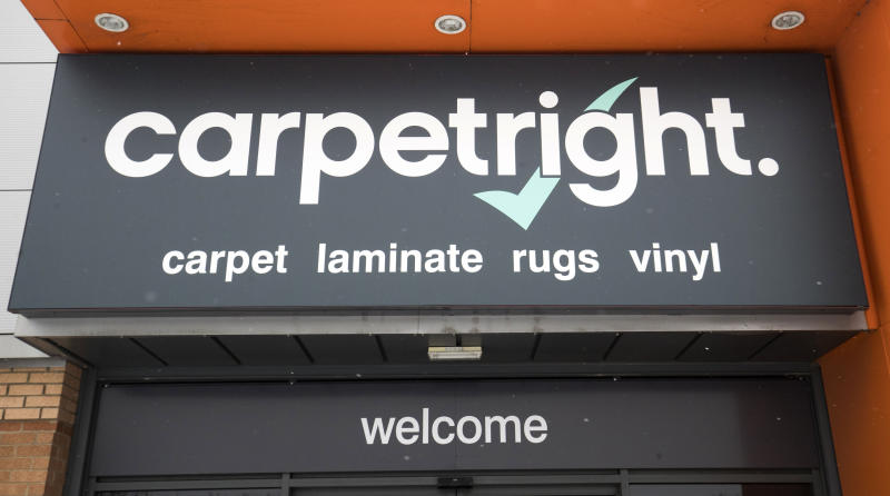 A view of Carpetright in Leeds, as the company has warned it is set to swing to a full-year loss and said it has started talks with its lenders as the woes in the retail sector show no sign of letting up. (Photo by Danny Lawson/PA Images via Getty Images)
