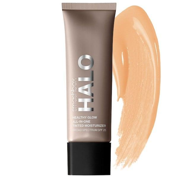 """<p>""""I am very much so still in operation: easy pre-Zoom call makeup, and <span>Smashbox Halo Healthy Glow Tinted Moisturizer Broad Spectrum SPF 25</span> ($36) has been my greatest new discovery of late. It has a near water-like texture that makes it easy to spread on in a pinch, but miraculously covers up my dark circles without looking like I'm wearing anything at all."""" - Kelsey Castañon, director, Beauty</p>"""
