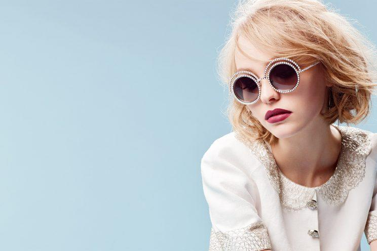 Lily-Rose Depp in Chanel Eyewear's campaign. (Photo: Chanel)