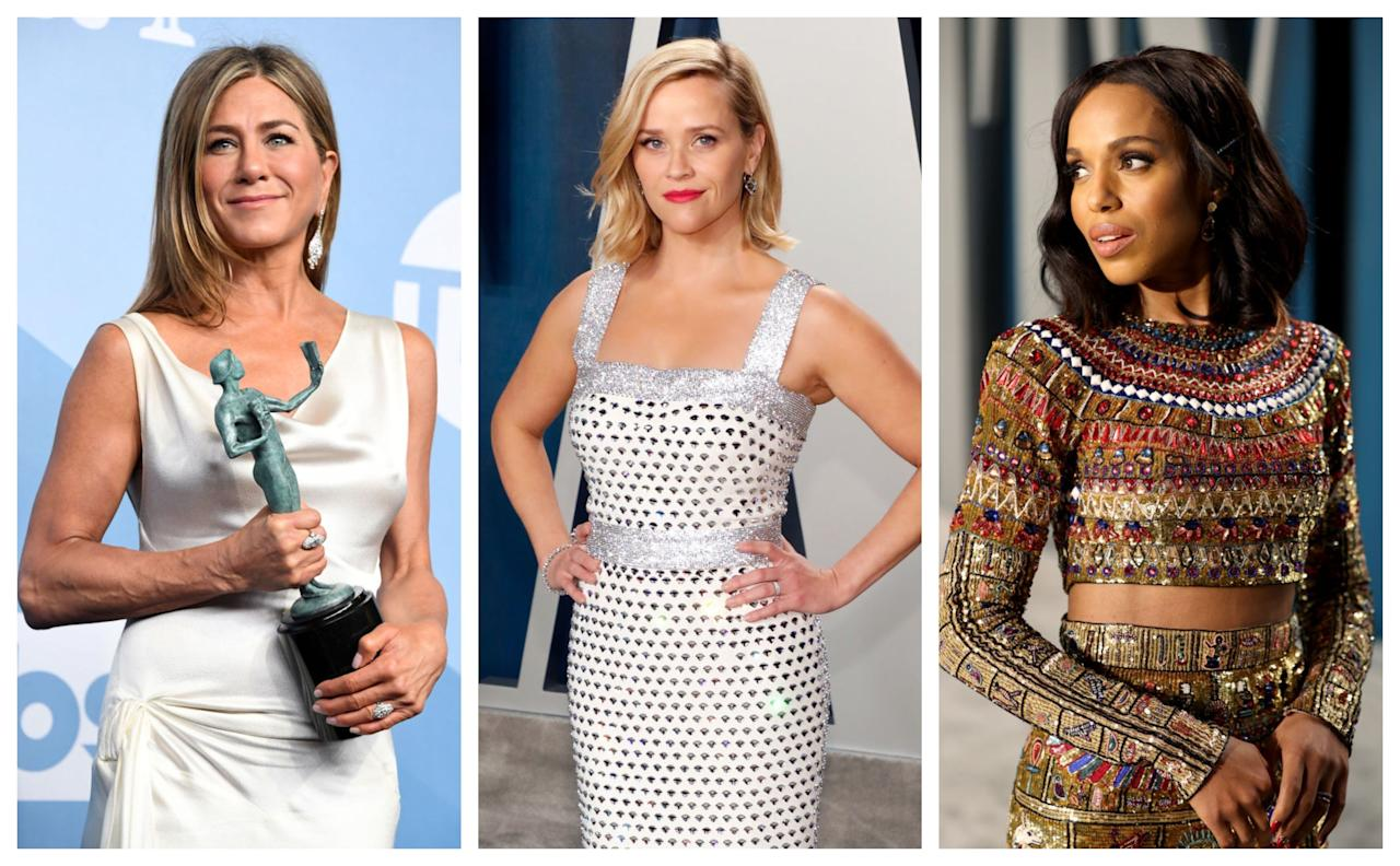 <p>The 72nd Emmy awards may have looked considerably different to previous years, but that didn't stop the A-listers from going all out last night; whether in person or virtually.</p><p>Aside from a select handful of guests who attended the mostly empty Staples Centre Arena in Los Angeles – namely Jennifer Aniston, Zendaya, Tracee Ellis-Ross and Jason Bateman, alongside host Jimmy Kimmel – the 130-odd Emmy nominees stayed at home (with winners dialling in to accept their awards) and had to make do with dressing up in their finest outfits to watch from afar.</p><p>From Emmy-nominee Kerry Washington donning not one but two outfits for the night, to history making winner Zendaya bringing the glam factor in person, here are all the most gorgeous looks from the night, uploaded via the stars' Instagram accounts, rather than the traditional red carpet shots.</p>