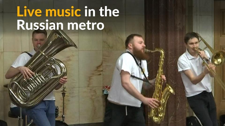 Hundreds of musicians are being given the opportunity to perform live at metro stations in Moscow to help brighten up travelers' journeys.