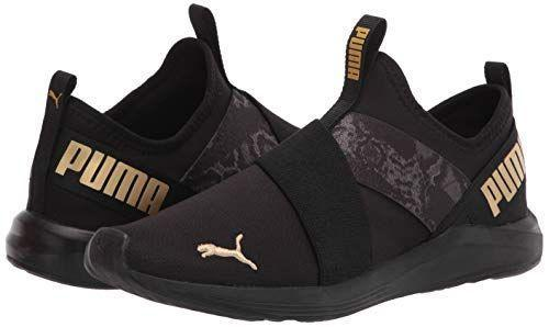 """<p><strong>PUMA</strong></p><p>amazon.com</p><p><a href=""""https://www.amazon.com/dp/B08KL84RHT?tag=syn-yahoo-20&ascsubtag=%5Bartid%7C2140.g.36063460%5Bsrc%7Cyahoo-us"""" rel=""""nofollow noopener"""" target=""""_blank"""" data-ylk=""""slk:Shop Now"""" class=""""link rapid-noclick-resp"""">Shop Now</a></p><p>The sock-like construction makes these really comfortable and easy to wear for maximum agility and flexibility. Plus, the gold accents on these make for a super cute finish that'll look just as stylish with jeans and a t-shirt. </p>"""