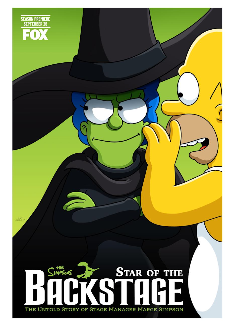 """""""The Simpsons"""" does """"Wicked"""" - Credit: Fox"""