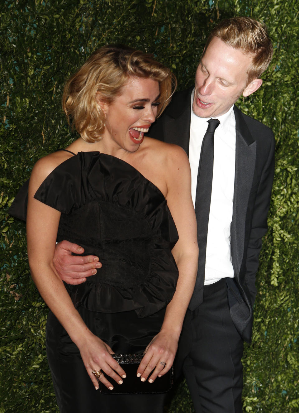 Billie Piper and Laurence Fox arrives at the 60th London Evening Standard Theatre Awards at the London Palladium in central London.