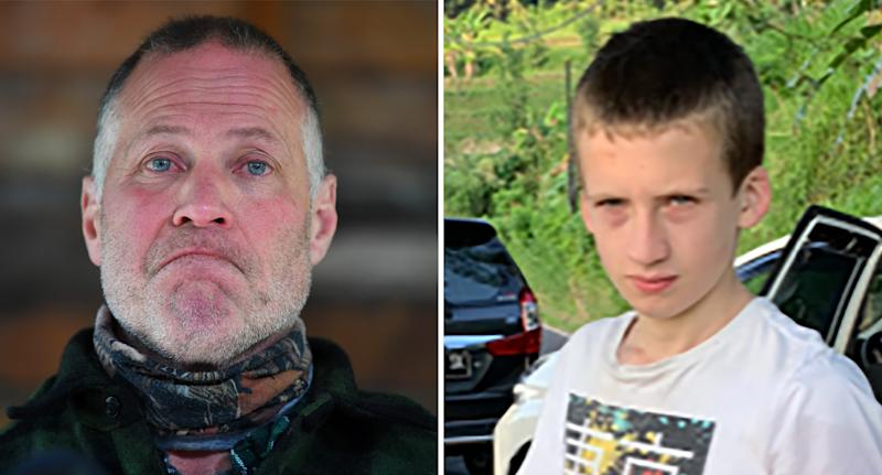 William's father Shane (left) pleaded for the safe return of his son (right) just hours before his body was found. Source: AAP