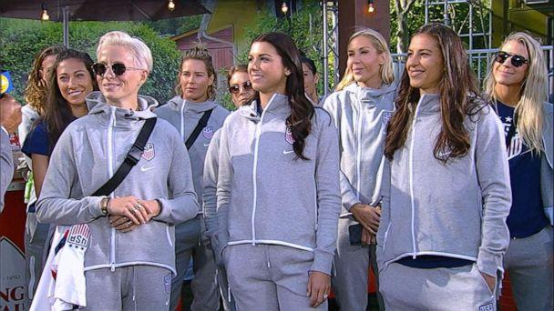 PHOTO: The U.S. Women's National Soccer Team stopped by 'GMA' on May 24, 2019, as they get set to head off to the 2019 FIFA World Cup in France. (ABC)