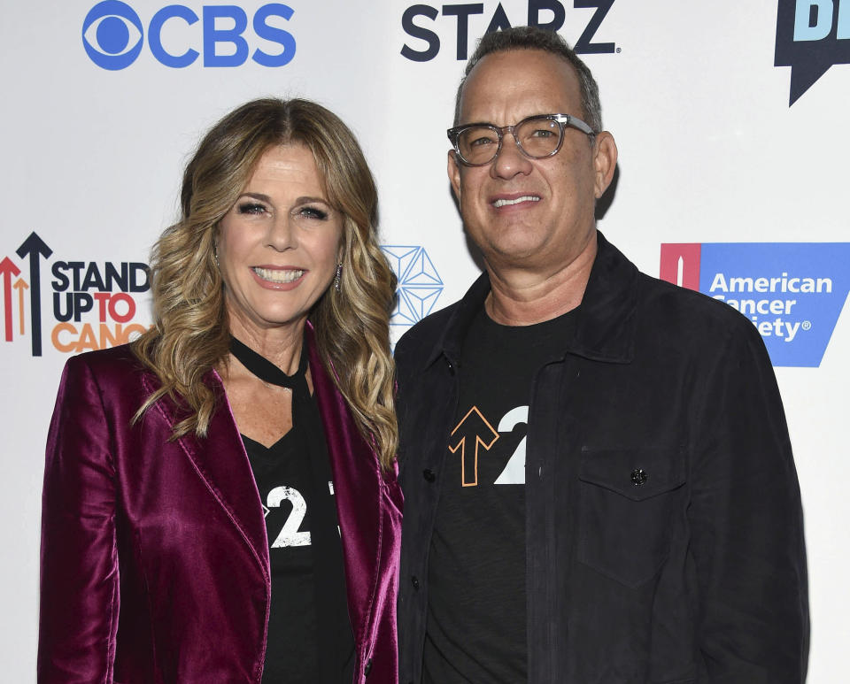 March 11th 2020 - Tom Hanks and Rita Wilson have tested positive for the novel coronavirus. - File Photo by: zz/KGC-11/STAR MAX/IPx 2016 9/9/16 Tom Hanks and Rita Wilson at The 5th Biennial Stand Up To Cancer (SU2C). (Los Angeles, CA)
