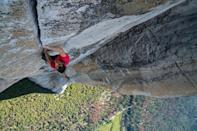 <p> The winner of the 2019 Academy Award for Best Documentary Feature, Free Solo follows Alex Honnold on his quest to free solo climb (that means no ropes, harnesses, or anything that might save you if you slip) the El Capitan, a perilous cliff face in Yosemite National Park.&#xA0; </p> <p> This is as nail-biting, dizzying, and downright terrifying as you could imagine (anyone with vertigo, beware). But what&#x2019;s more surprising is how it gets inside Honnold&#x2019;s head, as the filmmakers try to understand not only the kind of person who&#x2019;d have such disregard for their personal safety, but how his actions affect his relationships with others, including with his anxious girlfriend Sanni. </p>