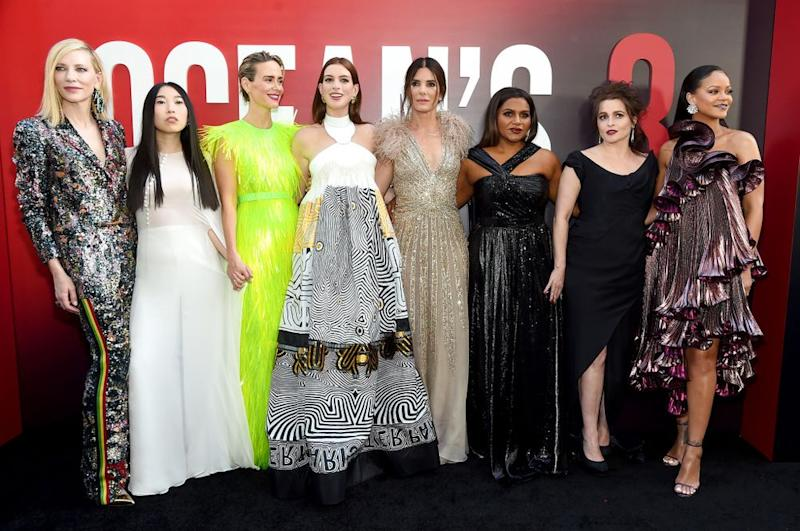 The cast of <em>Ocean's 8</em>.