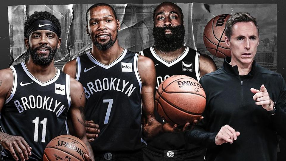 Kyrie Irving, Kevin Durant, James Harden and Steve Nash treated image