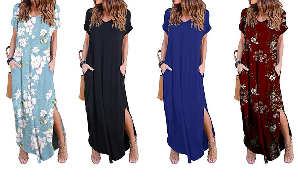 This under $25 Grecerelle maxi dress is an Amazon best-seller and perfect for Spring. (Photo: Amazon)
