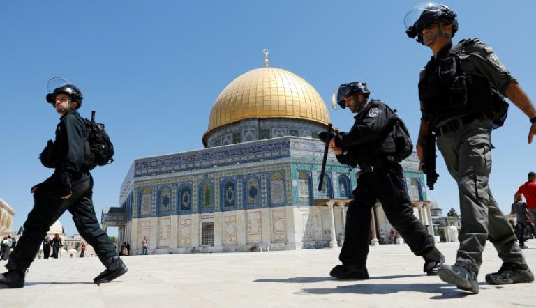 Israeli security forces clashed with Palestinian protesters last weekend in the Al-Aqsa Mosque compound, which also houses the Dome of the Rock