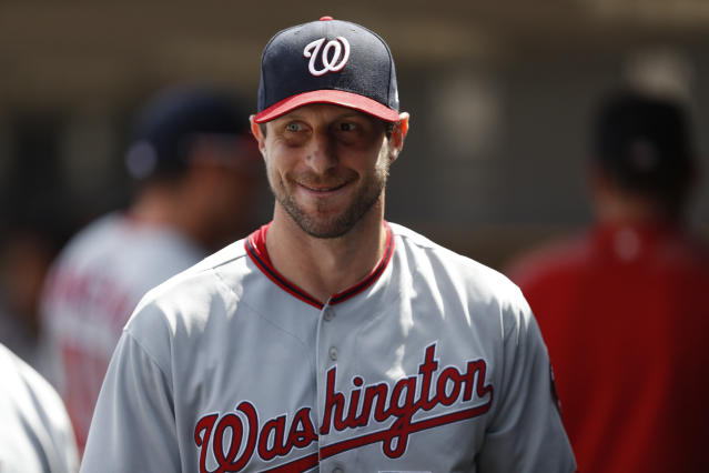 Max Scherzer and the Nationals are climbing our rankings — and the standings. (Raj Mehta-USA TODAY Sports)