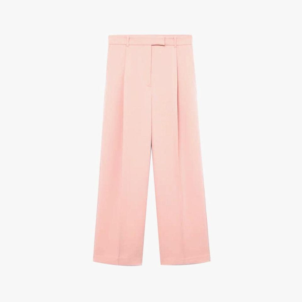 "$80, MANGO. <a href=""https://shop.mango.com/us/women/pants-wideleg/pleat-straight-trousers_87084018.html"" rel=""nofollow noopener"" target=""_blank"" data-ylk=""slk:Get it now!"" class=""link rapid-noclick-resp"">Get it now!</a>"