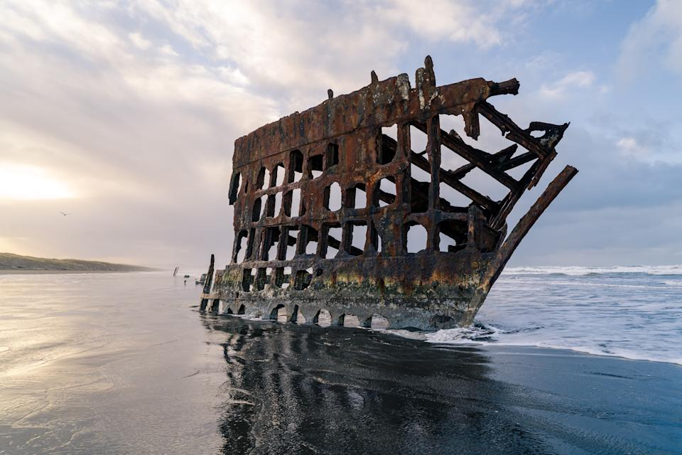 The Shipwreck of Peter Iredale in Oregon located at Fort Stevens State Park