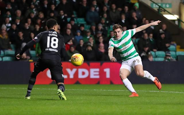 """James Forrest played for Celtic last time they were in a European final, when the Hoops lost 3-2 to Porto after extra time in Seville in 2003. To be more precise, while Martin O'Neill's men were edged out of the silverware by a Porto side under the leadership of Jose Mourinho, Forrest was featuring as an 11-year-old for one of the Parkhead club's boys' teams. On Tuesday night, however, Celtic can secure European football after Christmas providing that they get any result better than a 4-0 defeat at home to Anderlecht in their final Champions League group match. Brendan Rodgers' players would then go into the Europa League, a tournament which offers them the chance of progress at that level into the spring of next year. Celtic would require a degree of luck in the draw because although there are no teams of the calibre of Paris Saint-Germain – who have beaten them 5-0 in Glasgow and 7-1 in France in their Champions League group – the Europa League knockout stage will still feature the likes of Arsenal, AC Milan, Lazio, Diamo Kiev, Olympique Marseille and Villareal. Still, Hoops fans nourish hope of a campaign that would rekindle memories of the adventures of their 2003 side, who prevailed against Blackburn Rovers, Celta Vigo, Stuttgart, Liverpool and Boavista to reach the final, to which they were followed by an estimated 80,000 supporters, fewer than half of whom had tickets for the match. """"It was a memorable year, a special season,"""" said Forrest. """"They did really well, they got on a run, but back then, they were probably just taking it a game at time. I don't think they would have predicted that they would get to the final. Celtic's players trudge off after defeat in the 2003 Uefa Cup final Credit: REx feautures """"We're the same. I don't think anybody has really thought about the Europa League. At the start of the season the goal was to get into the Champions League and we wanted to be in Europe after Christmas. """"Now we're coming to the last Champions League game at"""
