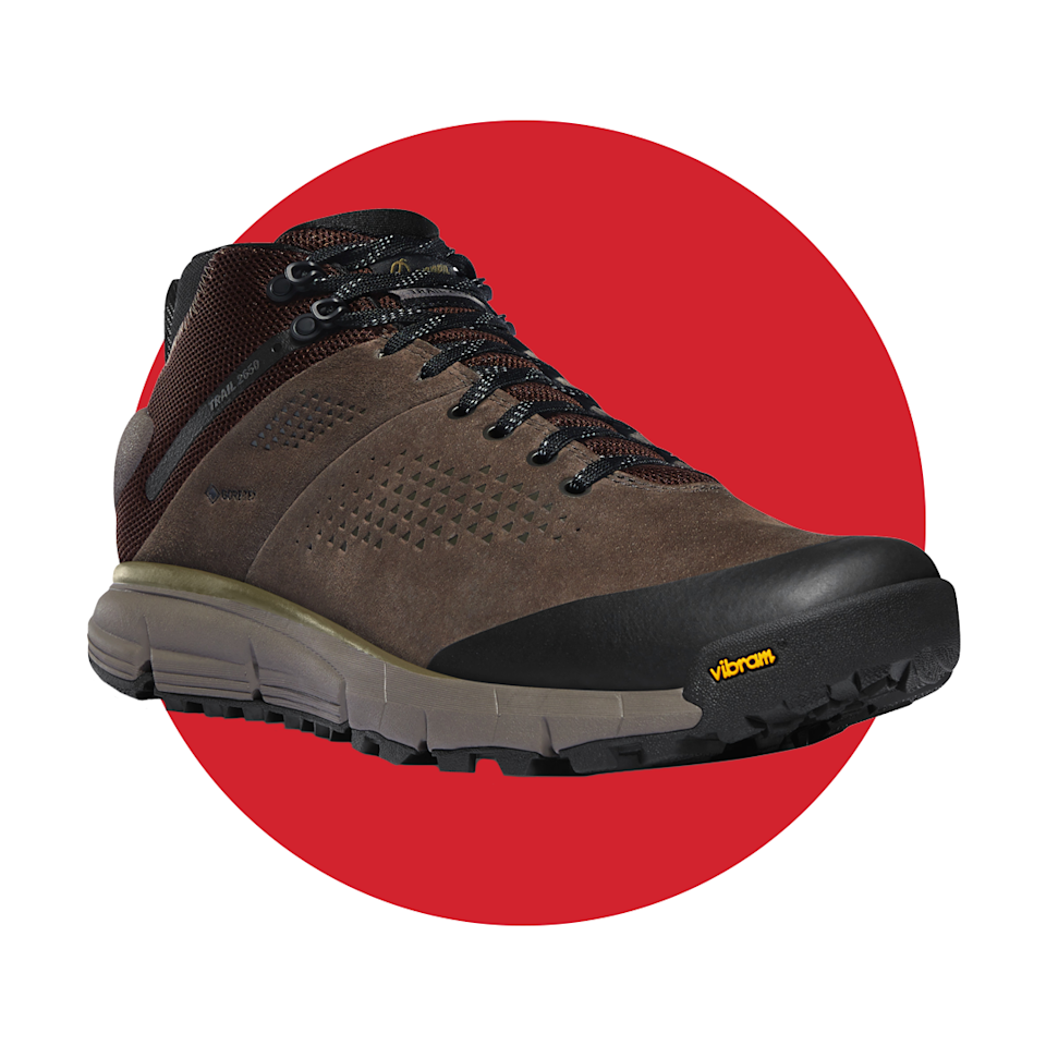 """<p>danner.com</p><p><strong>$180.00</strong></p><p><a href=""""https://www.danner.com/men/hike/trail-2650-mid-4-brown-military-green-gtx.html"""" rel=""""nofollow noopener"""" target=""""_blank"""" data-ylk=""""slk:BUY IT HERE"""" class=""""link rapid-noclick-resp"""">BUY IT HERE</a></p><p>There's no shortage of options when it comes to hiking boots. But if you want to go with a classic—a brand with decades of history–you should go with Danner, who were the first brand to feature a GORE-TEX liner in their Danner Lights back in 1979. The Explorer 650 is a tribute to that earlier model and serves as a great all-around boot for rugged, all-weather hiking. The secret to choosing a great hiking boot isn't just how they look or even how they feel on your feet—they're how the rest of your body feels after a long day of walking, scaling, and lugging heavy equipment. Danner will make sure your body can keep up with your desire to keep pushing on trails, day-after-day.</p>"""