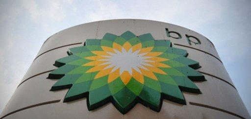 A sign for a BP filling station is pictured in central London on October 30, 2012