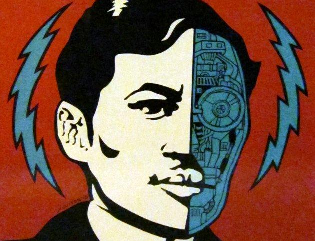 Detail from JP Cuison Cyborg Rizal Silkscreen (Photo courtesy of Yuchengco Museum)