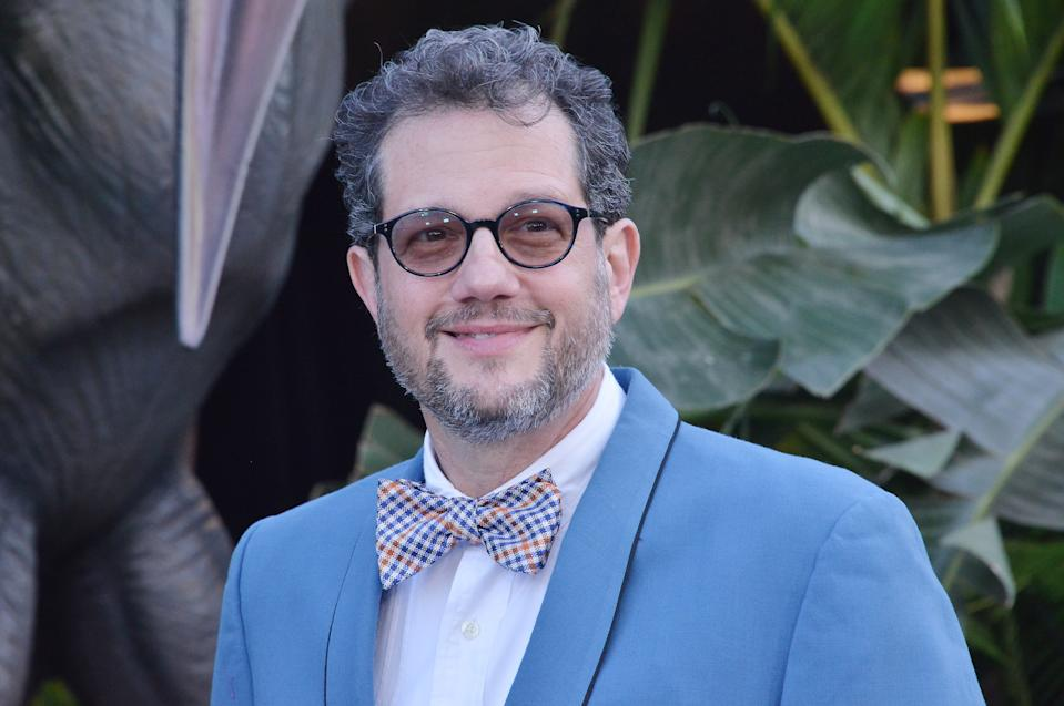 """Michael Giacchino arrives at the """"Jurassic World: Fallen Kingdom"""" Los Angeles Premiere held at the Walt Disney Concert Hall in Los Angeles, CA on Tuesday, June 12, 2018. (Photo By Sthanlee B. Mirador/Sipa USA)"""