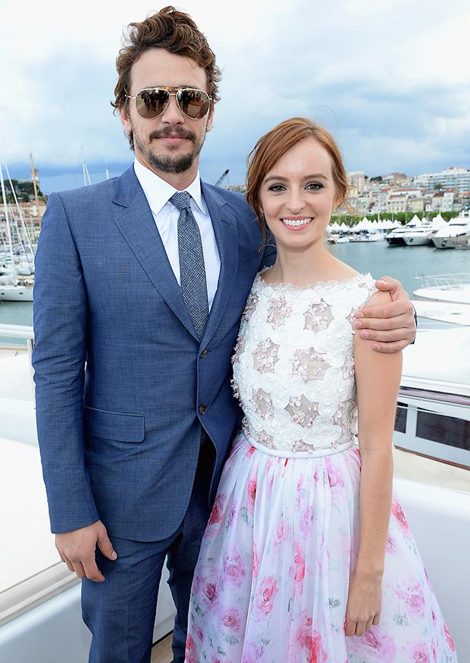 CANNES, FRANCE - MAY 19:  James Franco and Ahna O'Reilly attends The Art of Elysium, Rabbit Bandini and Leon Max event for Ahna O'Reilly at Festival de Cannes during the 66th Annual Cannes Film Festival at  on May 19, 2013 in Cannes, France.  (Photo by Michael Buckner/Getty Images for Torch)