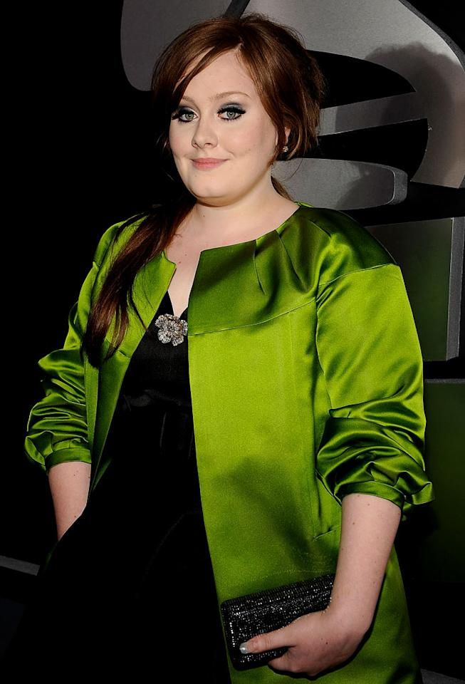 Adele arrives at the 51st Annual Grammy Awards at the Staples Center on February 8, 2009, in Los Angeles.