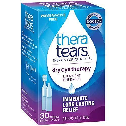 "<p><strong>Thera Tears</strong></p><p>amazon.com</p><p><strong>$9.94</strong></p><p><a href=""https://www.amazon.com/dp/B07PJP5D2S?tag=syn-yahoo-20&ascsubtag=%5Bartid%7C2140.g.29320458%5Bsrc%7Cyahoo-us"" rel=""nofollow noopener"" target=""_blank"" data-ylk=""slk:Shop Now"" class=""link rapid-noclick-resp"">Shop Now</a></p><p>TheraTears are preservative-free drops that are great for rewetting your eyes or rinsing out allergens that might be hanging out on your eyeballs. Simply pull out a vial, use it on your eyes, and go about your day.</p>"