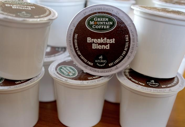 Lindsay Gallimore, who blogs about environmental issues, likened the advent of plastic baby pouches to K-Cups. Both are convenient and difficult to recycle. (Photo: Joe Raedle via Getty Images)