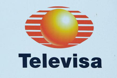 FILE PHOTO: Logo of broadcaster Televisa is pictured at a truck in Ciudad Juarez