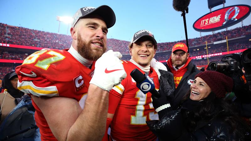 'I f****** love you!' – Kelce lauds Chiefs hero Mahomes after sealing Super Bowl berth