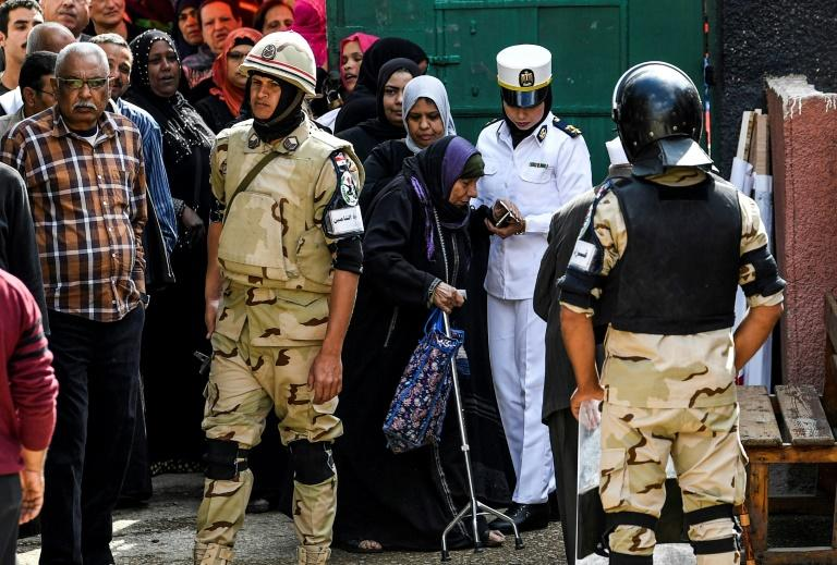 Egypt has deployed troops as well as police to provide security at polling stations as it battles an Islamic State group-inspired insurgency based in the Sinai Peninsula