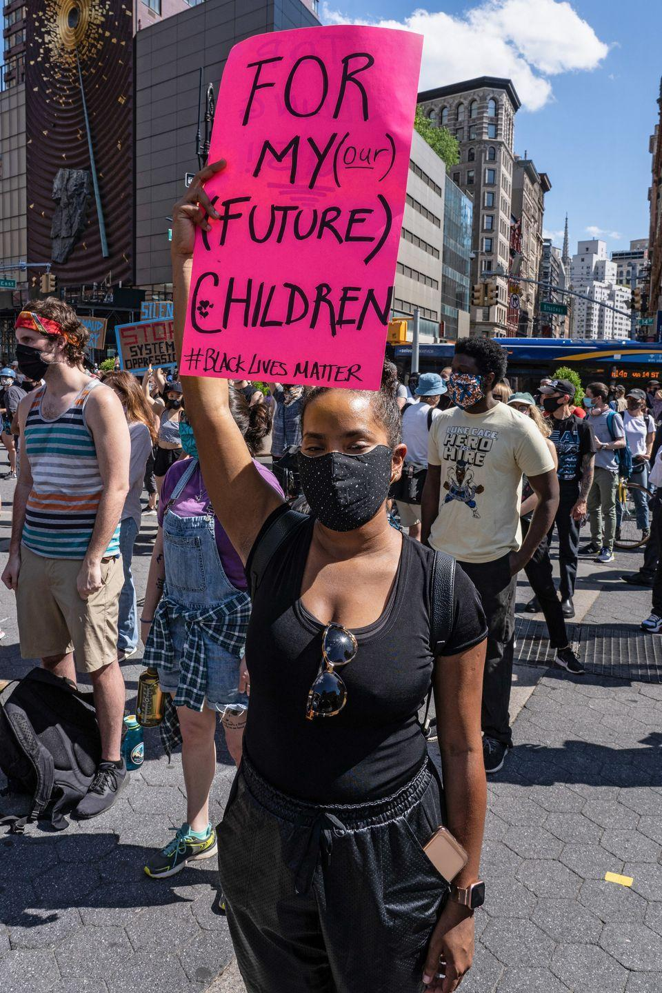 <p>A young woman implores for equality for her future kids. </p>