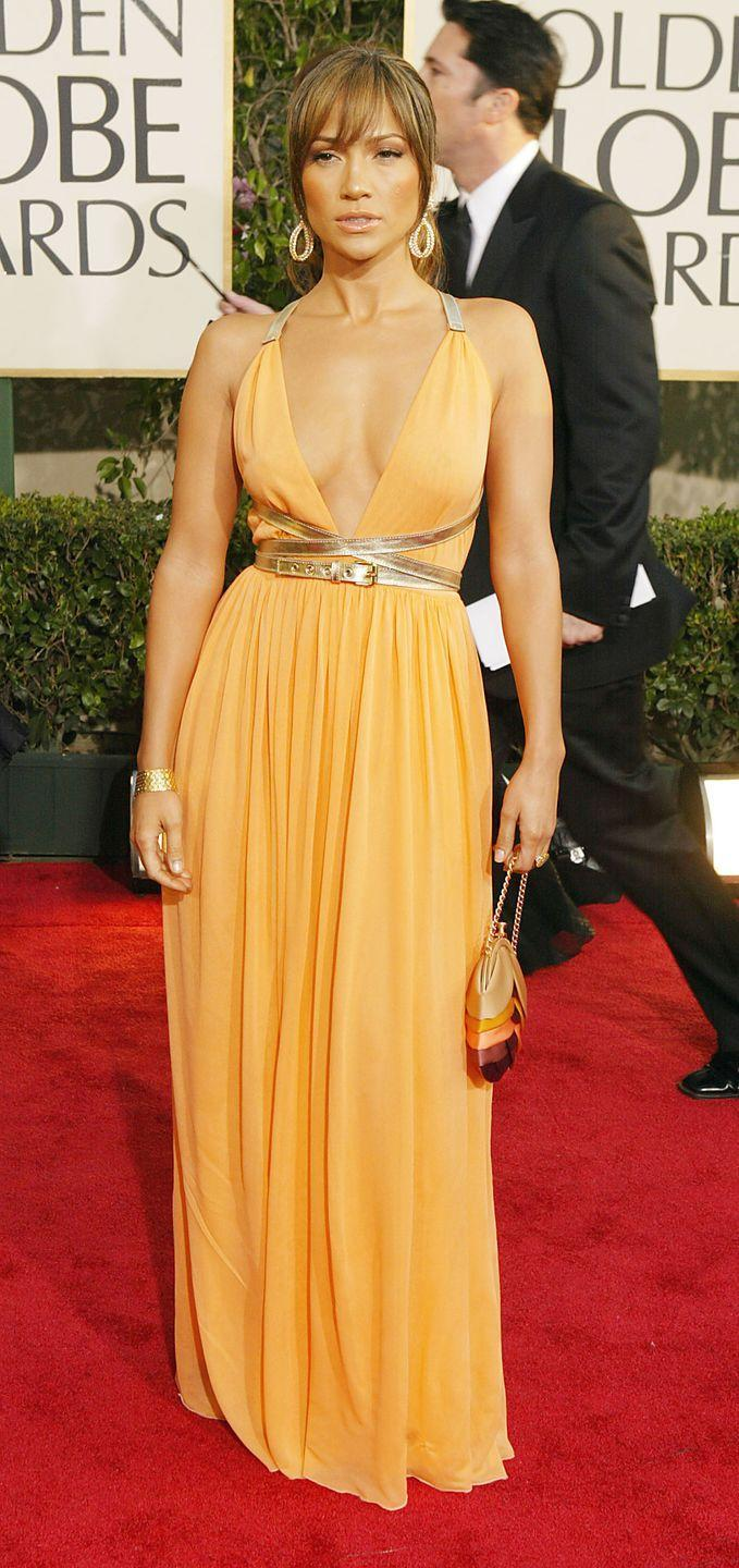 <p>Lopez channeled a glowing Grecian goddess in Michael Kors Collection in 2004.</p>