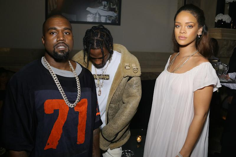 Rihanna reportedly spent a good deal of 2015 dating Travis Scott. The two were spotted with mutual friend Kanye West at the Vogue 95th Anniversary Party in October of that year.