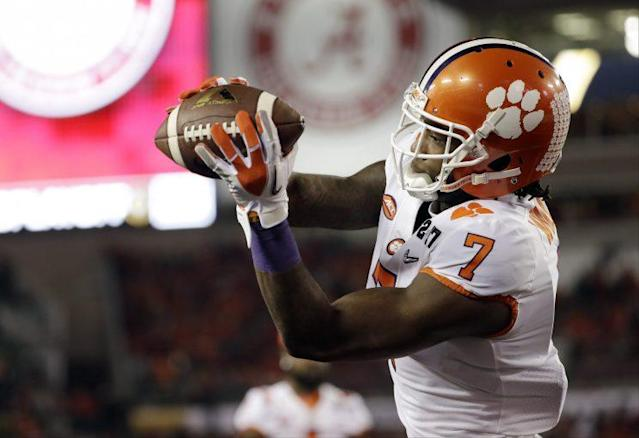 Mike Williams of Clemson is one of the top receiving prospects in the draft. (AP)