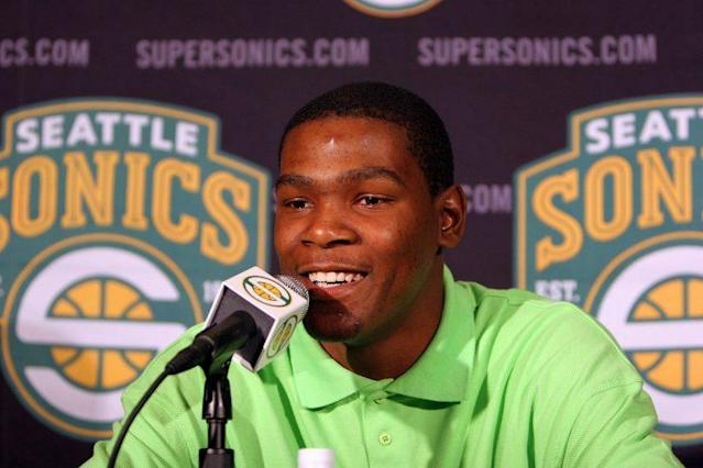 Durant was drafted No. 2 overall by the Sonics in 2007. (AP)