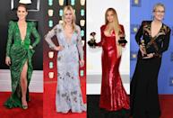 <p>Low-plunging necklines have been a big favourite this season, with everyone from Beyonce to Meryl Streep bossing the style. [Photo: Getty] </p>