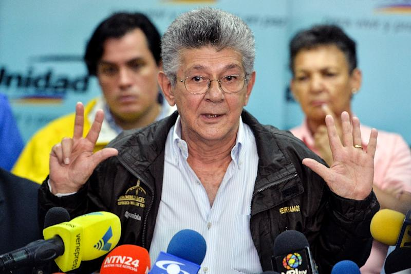 """Henry Ramos Allup, former president of Venezuela's National Assembly, said the number of people expected to boycott the vote was """"dramatic"""" with polls suggesting it could be as high as 60%"""