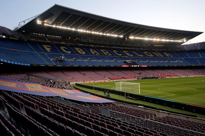 Barcelona's debt is staggering, even by major soccer club standards. (Photo by PAU BARRENA/AFP via Getty Images)