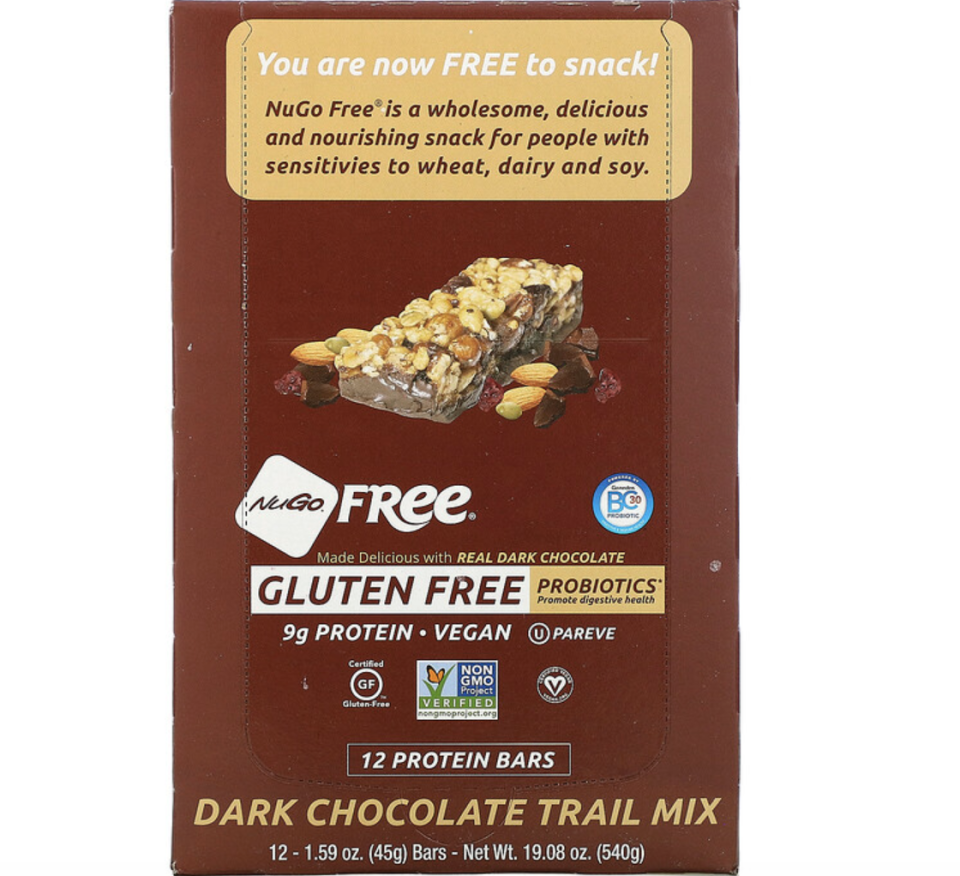 NuGo Nutrition, NuGo Free, Gluten Free, Dark Chocolate Trail Mix, 12 Bars. PHOTO: iHerb
