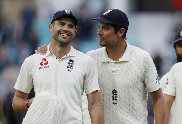 Jimmy Anderson and Alastair Cook walked off the field together at the end of a Test for the last time at The Oval