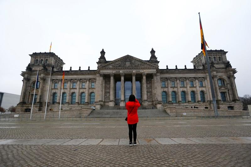 The Reichstag building, seat of the German lower house of parliament (Bundestag), is pictured during exploratory talks about forming a new coalition government in Berlin