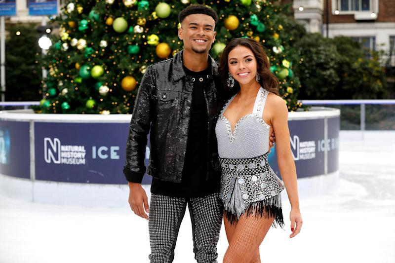 Romance rumours: Nelson with skating partner Bauer (David Parry/PA Wire/PA Images)