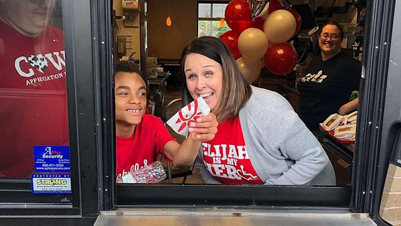 Chick-fil-A opens on Sunday for boy's birthday