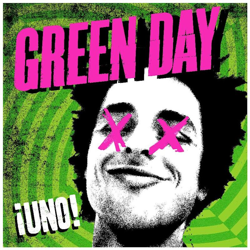 "This undated publicity photo provided by Warner Bros. Records shows Green Day's album cover for "" ¡Uno!,"" part of a trilogy album release. (AP Photo/Warner Bros Records)"