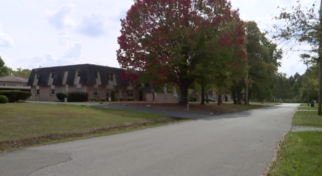 Police said they were called to this Boardman, Ohio, neighborhood on Saturday over a clown chasing a child.