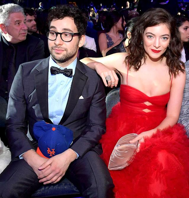 Jack Antonoff and Lorde attend the 60th Annual Grammy Awards at Madison Square Garden on Jan. 28 in New York City. (Photo by Lester Cohen/Getty Images for NARAS)