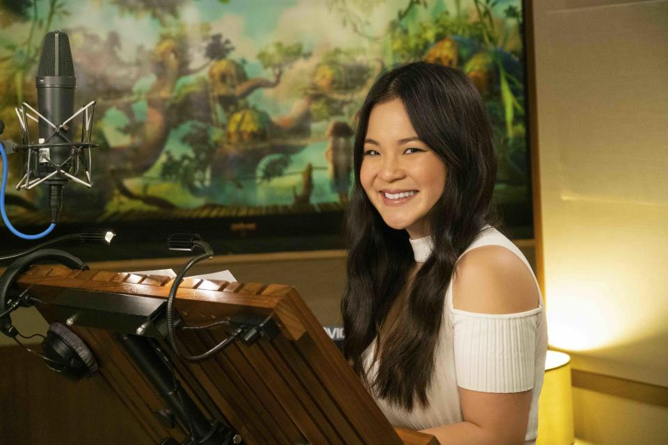 American actress Kelly Marie Tran voices Dawn Betterman in The Croods 2: A New Age. Photo provided by United International Pictures in November 2020.