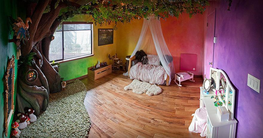 "<p>Reddit user <a href=""https://www.reddit.com/r/DIY/comments/420wu0/i_built_a_tree_in_my_daughters_bedroom/"">Raddamshome</a> transformed his daughter's bedroom into a fairy forest, complete with a giant tree that she can climb up or sit in. (Photo: <a href=""http://imgur.com/a/M6V45"">Imgur</a>)</p>"